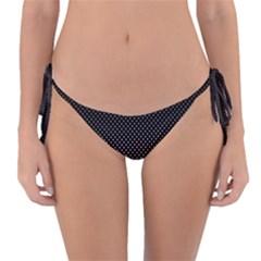 Halftone Background Pattern Black Reversible Bikini Bottom