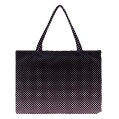 Halftone Background Pattern Black Medium Tote Bag