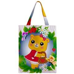 Bear Strawberries Classic Tote Bag