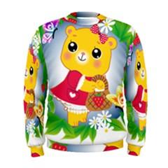Bear Strawberries Men s Sweatshirt