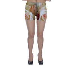 Roses Vintage Playful Romantic Skinny Shorts