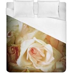 Roses Vintage Playful Romantic Duvet Cover (california King Size) by Nexatart