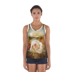 Roses Vintage Playful Romantic Sport Tank Top