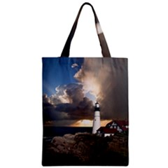 Lighthouse Beacon Light House Zipper Classic Tote Bag