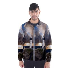 Lighthouse Beacon Light House Wind Breaker (men)