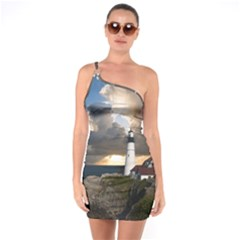 Lighthouse Beacon Light House One Soulder Bodycon Dress