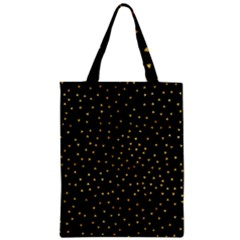 Grunge Pattern Black Triangles Zipper Classic Tote Bag
