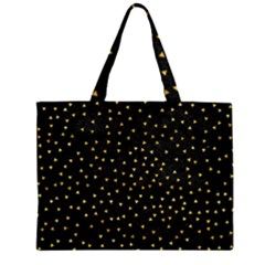 Grunge Pattern Black Triangles Zipper Large Tote Bag