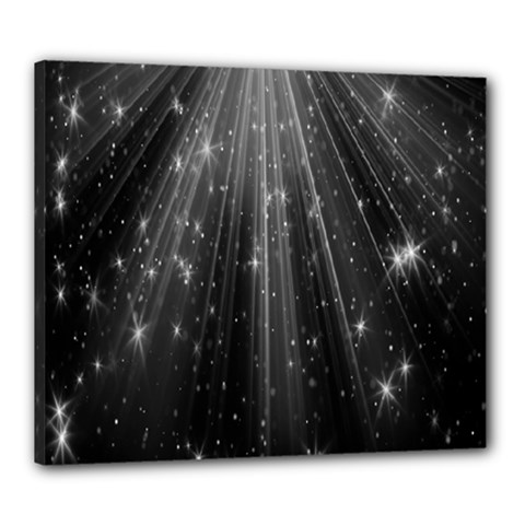 Black Rays Light Stars Space Canvas 24  X 20  by Mariart