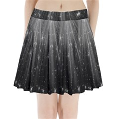 Black Rays Light Stars Space Pleated Mini Skirt by Mariart