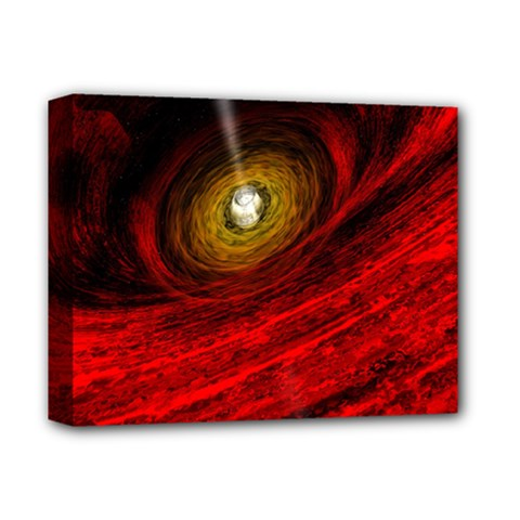 Black Red Space Hole Deluxe Canvas 14  X 11  by Mariart