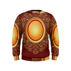 Badge Gilding Sun Red Oriental Kids  Sweatshirt