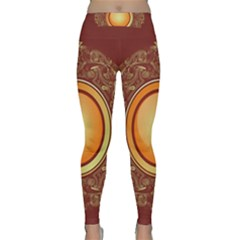 Badge Gilding Sun Red Oriental Classic Yoga Leggings