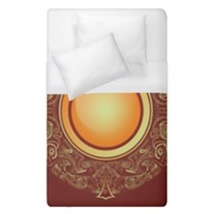 Badge Gilding Sun Red Oriental Duvet Cover (single Size) by Nexatart