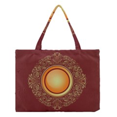 Badge Gilding Sun Red Oriental Medium Tote Bag