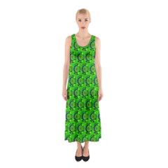 Abstract Art Circles Swirls Stars Sleeveless Maxi Dress