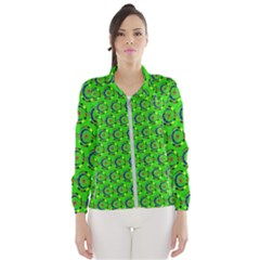 Abstract Art Circles Swirls Stars Wind Breaker (women)