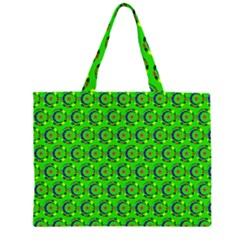 Abstract Art Circles Swirls Stars Zipper Large Tote Bag