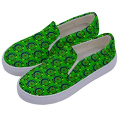 Abstract Art Circles Swirls Stars Kids  Canvas Slip Ons by Nexatart