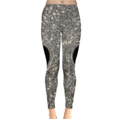 Black Hole Blue Space Galaxy Star Light Leggings  by Mariart