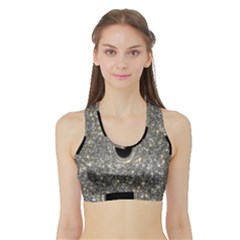 Black Hole Blue Space Galaxy Star Light Sports Bra With Border