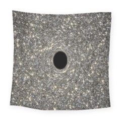 Black Hole Blue Space Galaxy Star Light Square Tapestry (large) by Mariart
