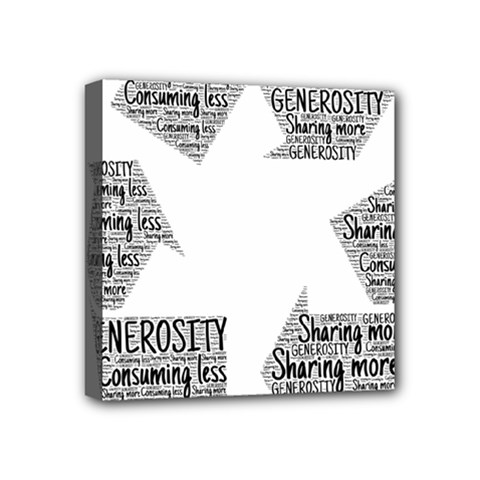 Recycling Generosity Consumption Mini Canvas 4  X 4