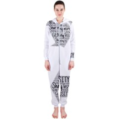 Recycling Generosity Consumption Hooded Jumpsuit (ladies)