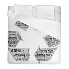 Recycling Generosity Consumption Duvet Cover (full/ Double Size)