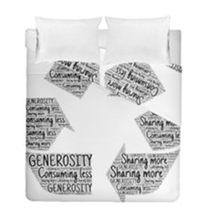 Recycling Generosity Consumption Duvet Cover Double Side (full/ Double Size)