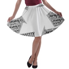 Recycling Generosity Consumption A Line Skater Skirt