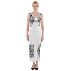 Recycling Generosity Consumption Fitted Maxi Dress