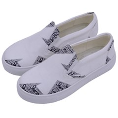 Recycling Generosity Consumption Kids  Canvas Slip Ons by Nexatart