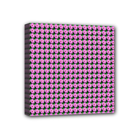 Pattern Grid Background Mini Canvas 4  X 4