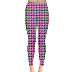 Pattern Grid Background Leggings  by Nexatart