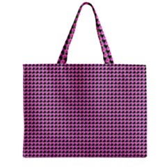 Pattern Grid Background Zipper Mini Tote Bag