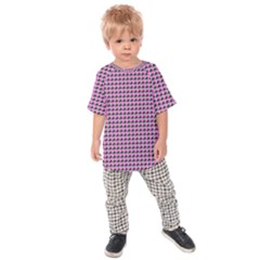 Pattern Grid Background Kids Raglan Tee