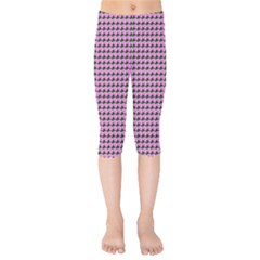 Pattern Grid Background Kids  Capri Leggings