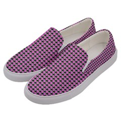 Pattern Grid Background Men s Canvas Slip Ons by Nexatart