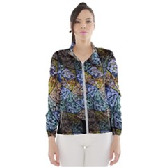 Multi Color Tile Twirl Octagon Wind Breaker (women)