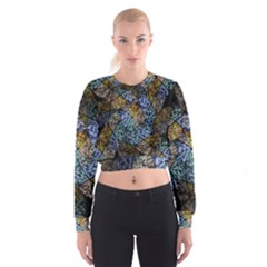 Multi Color Tile Twirl Octagon Cropped Sweatshirt