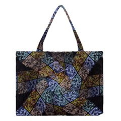 Multi Color Tile Twirl Octagon Medium Tote Bag by Nexatart
