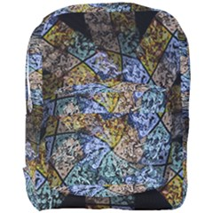 Multi Color Tile Twirl Octagon Full Print Backpack