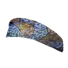 Multi Color Tile Twirl Octagon Stretchable Headband