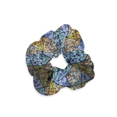 Multi Color Tile Twirl Octagon Velvet Scrunchie