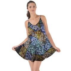 Multi Color Tile Twirl Octagon Love The Sun Cover Up