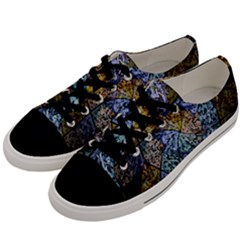 Multi Color Tile Twirl Octagon Men s Low Top Canvas Sneakers by Nexatart
