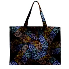 Multi Color Tile Twirl Octagon Zipper Mini Tote Bag by Nexatart