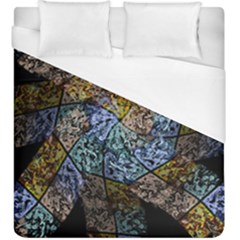 Multi Color Tile Twirl Octagon Duvet Cover (king Size)