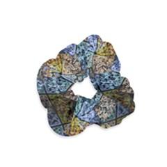 Multi Color Tile Twirl Octagon Velvet Scrunchie